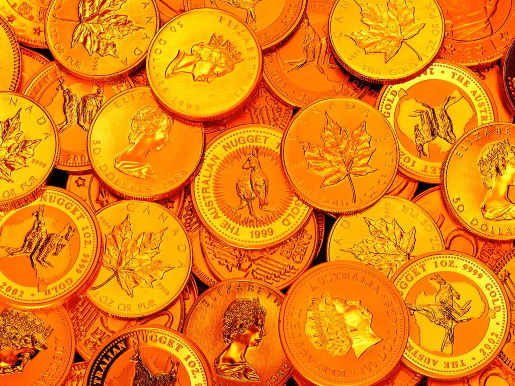 HD Wallpaper Gold Coin Collection For Desktop Free Download