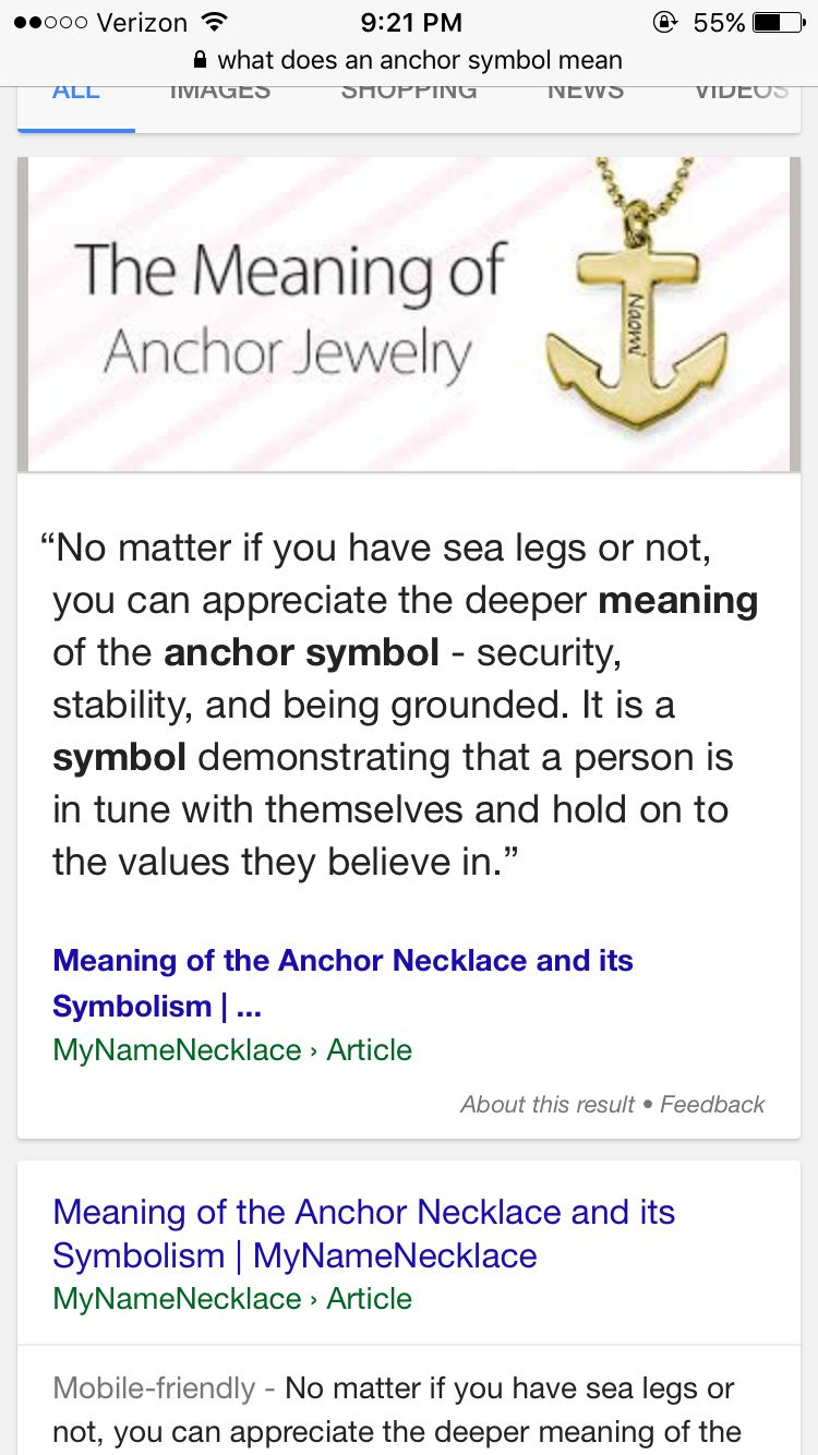 This Is Why An Anchor Is Used For Mental Illnesses And Being Strong