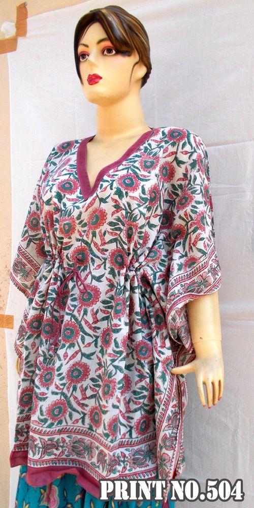 cf12c9b78f99 Indian Hand Block Printed Voile Women Maxi Short Dress Kimono Cotton Kaftan  504 #Handmade #Maxi #Casual