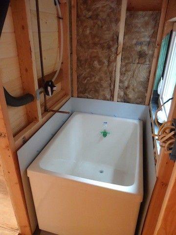 Japanese tub in tiny house | Tiny Space | Pinterest | Tiny houses ...