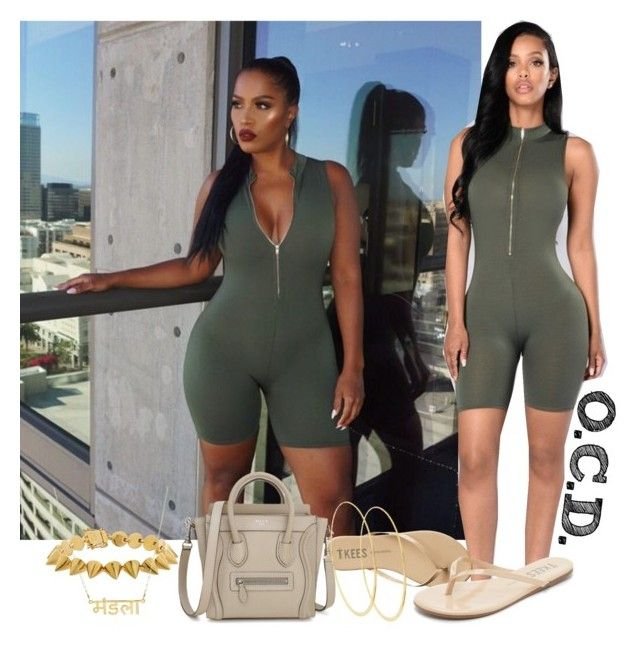 """""""Olive Romper."""" by oreocaker ❤ liked on Polyvore featuring Caprice, Tkees, Eddie Borgo and Lana"""