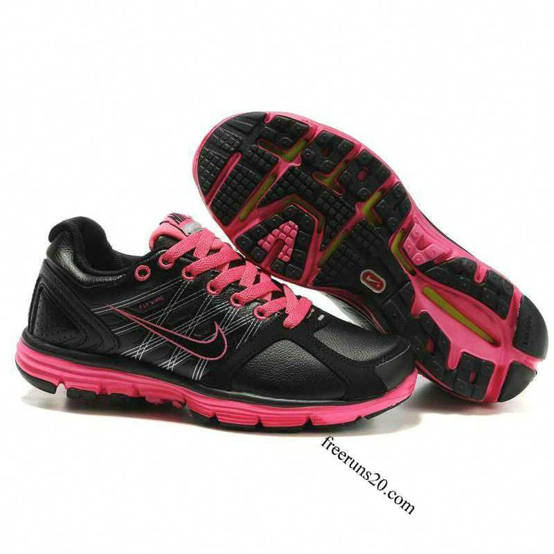 94d1f1d4adb Nike Lunarglide 2 Womens Leather Black Pink. and running shoes cause she  does alot of that.