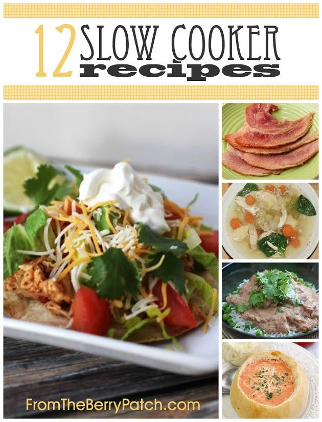 12 Slow Cooker Recipes Perfect for Fall | http://fromtheberrypatch.com/2014/08/11/slow-cooker-recipes/