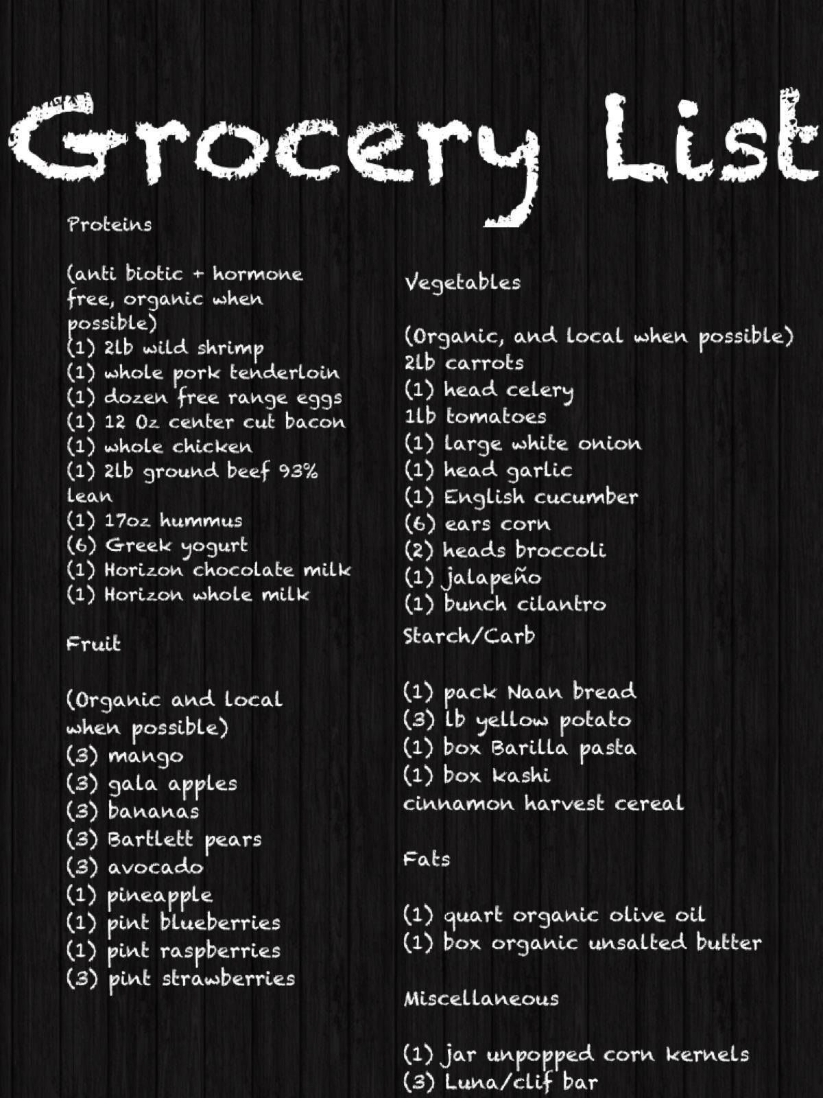 Healthy Family Grocery List Family grocery list, Healthy