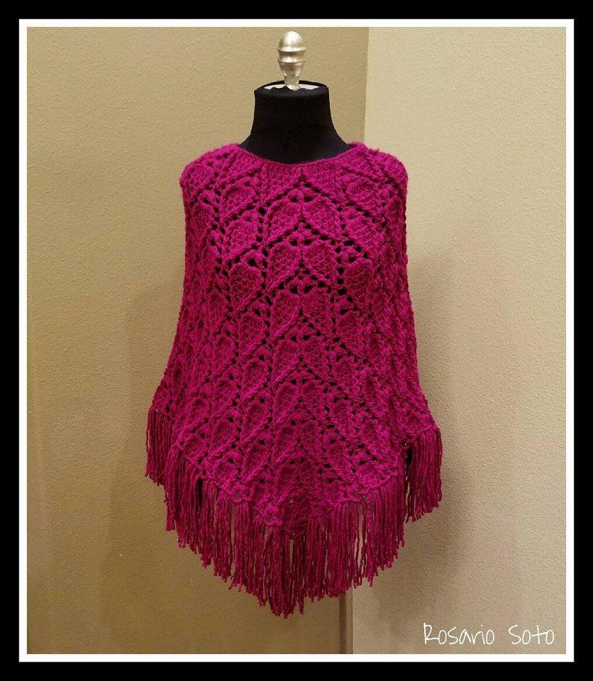Patrón poncho a crochet | Patrones ponchos crochet | Pinterest ...