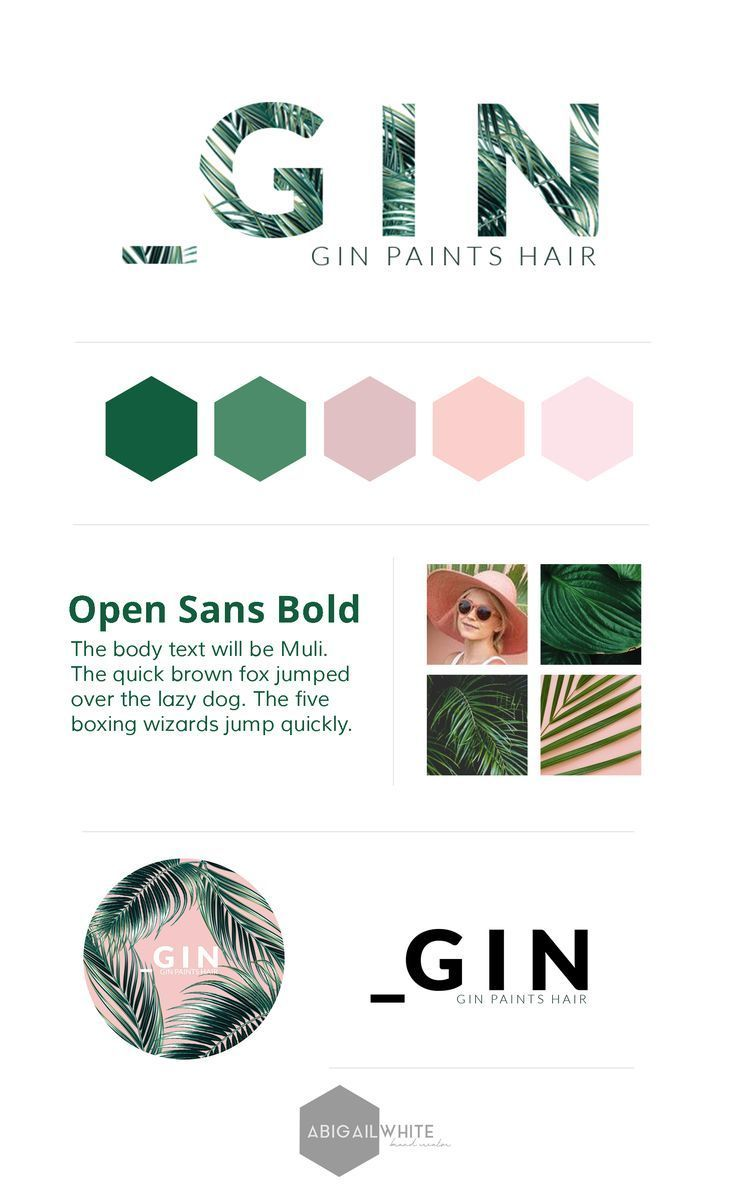 Branding and design by abigail white co brand identity