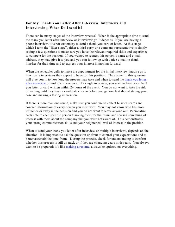 thank you letter after interview how get job letters template - sample post interview thank you letter
