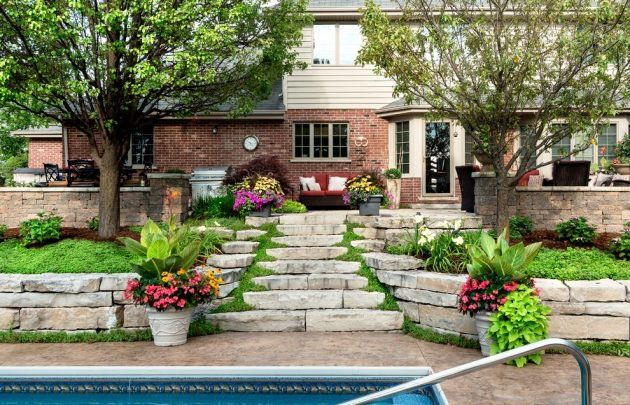 48 Beautiful Transitional Landscape Designs For A Private Backyard Mesmerizing Backyard Paradise Landscaping Ideas