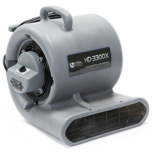 Odorstop OS2800 3//4 HP 3-Speed 1500 RPM Carpet Dryer//Air Mover