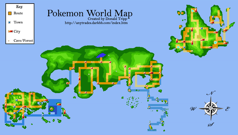 Pokemon World Map Japan Pok mon Pinterest Pok mon