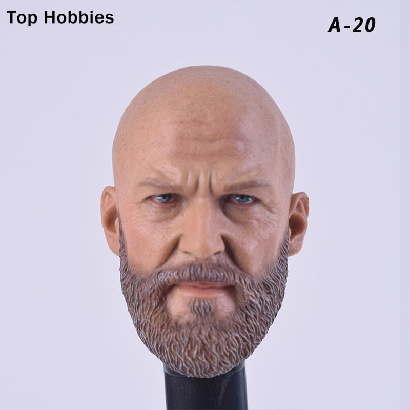 Head Carving Hot Toys Fit 12/'/' Body Action Figure 1//6 Male Head Sculpt A