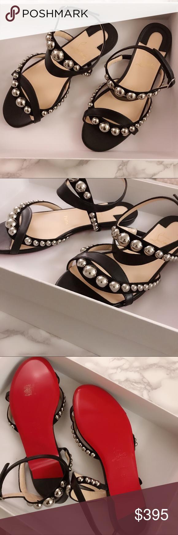 5c995832f95 Christian Louboutin Galleria Flat Napa Christian Louboutin sandal in napa  leather and calf suede