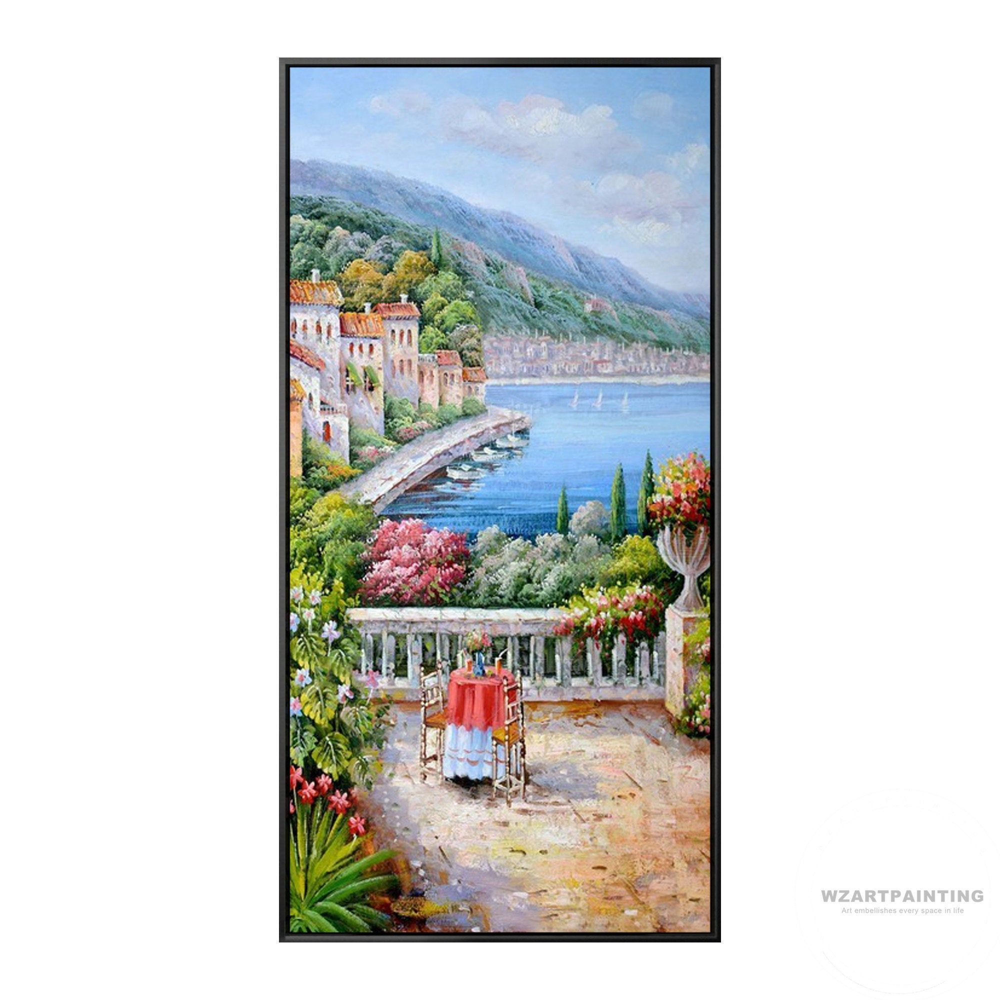 Framed Wall Art Mediterranean Landscape Italy Venice Print Painting Cityscape Painting Large Wall Art O Cityscape Painting Landscape Prints Landscape Paintings