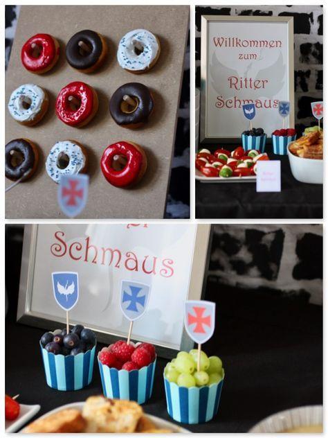 Photo of Ritter party ideen ritterparty deko essen kuchen donuts backen verzieren www.pic…