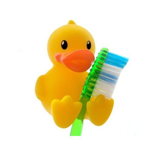 Duck Toothbrush Holder Set 4 Pc Cute Duck Bathroom Toothbrush Holder Stand Duck Bathroom Rubber Ducky Bathroom Bathroom Toothbrush Holder