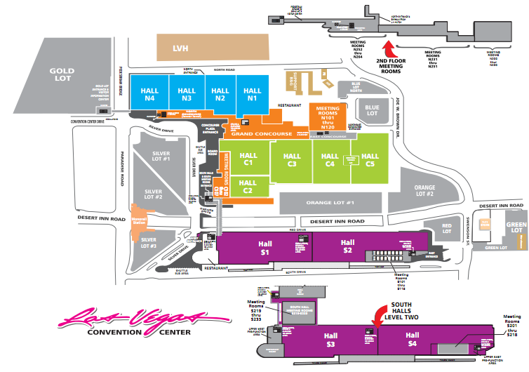 Las Vegas Convention Center map | Vegas baby | Diagram, Vegas, Map