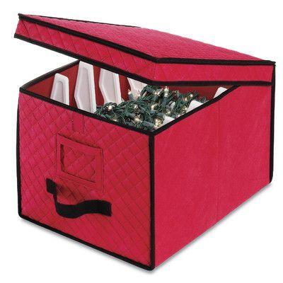 Whitmor Inc Christmas String Light Storage Box Set Of 6