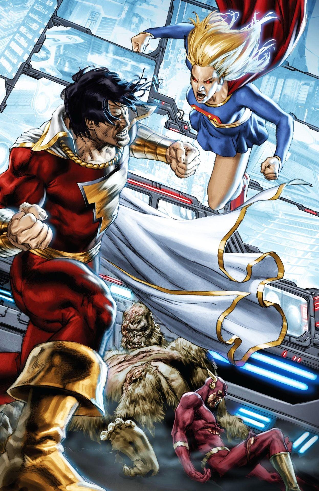 shazam vs supergirlmauro cascioli | dc characters & artists