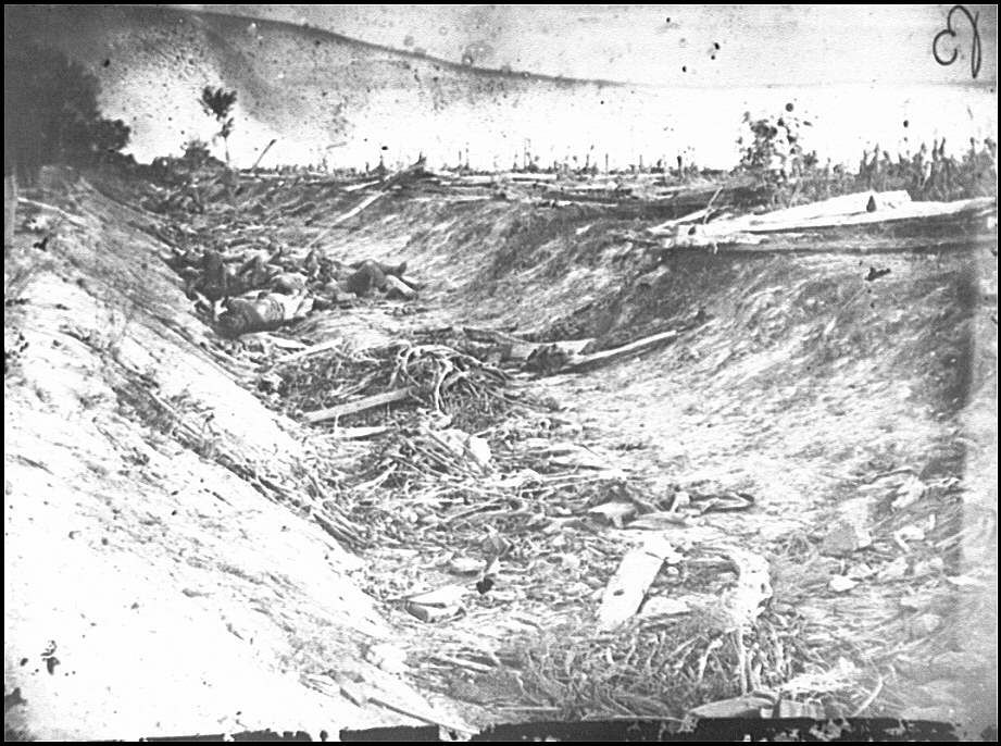 Confederate Dead in a Ditch on the Right Wing - Antietam, MD, September 1862
