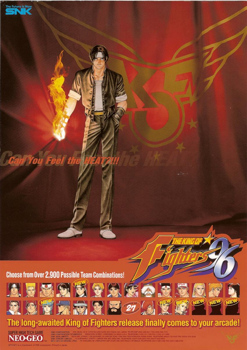 The King Of Fighters 96 Set 1 Flyer King Of Fighters Retro Games Poster Fighter