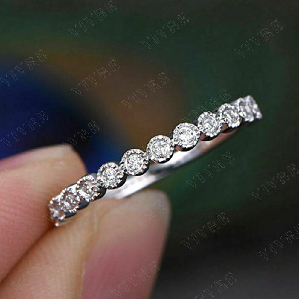 0 25ct Round Real Diamond Eternity Wedding Band 14k White Gold Finish For Womens Vivre With Diamond Eternity Wedding Band Eternity Wedding Band Wedding Bands