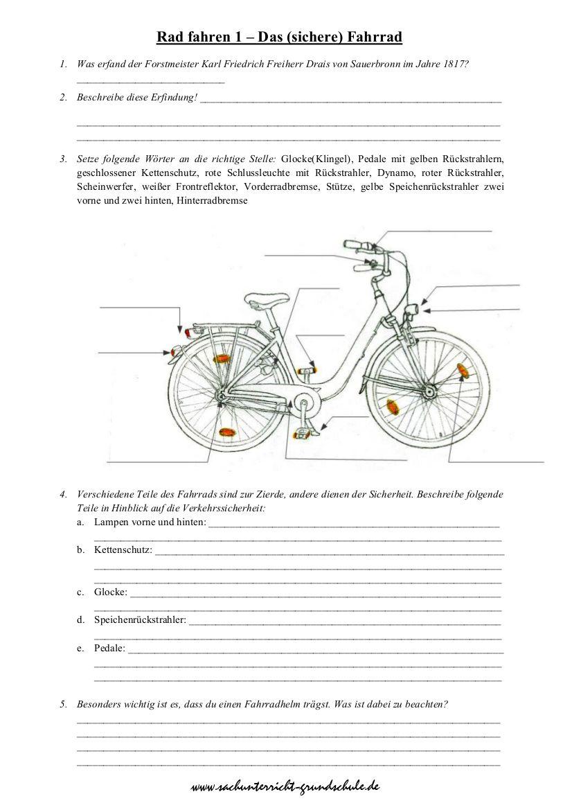 das verkehrssichere fahrrad sachunterricht klasse 3 verkehrssicheres fahrrad. Black Bedroom Furniture Sets. Home Design Ideas