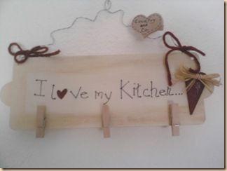 targhetta I love my kitchen