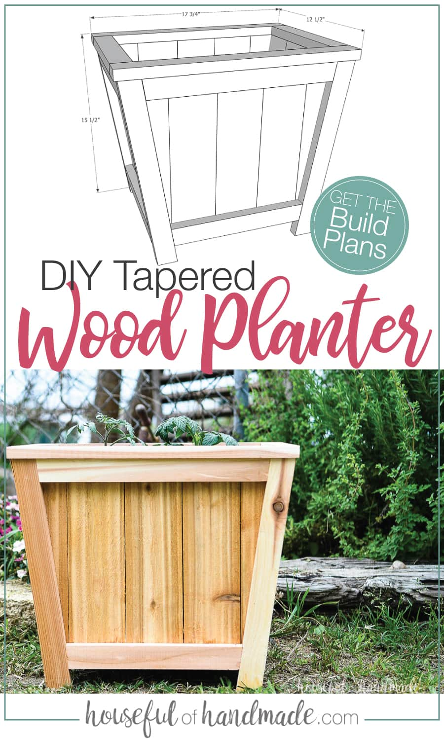 Easy Diy Tapered Planter Build Plans In 2020 Diy Planters Planters Tree Planters
