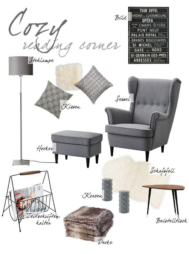 Collage | Interior | Leseecke | Reading Corner | Ikea | Wohnzimmer |  Livingroom | Sessel