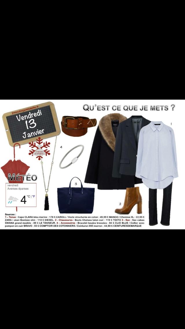 Du #casual chic pour ce vendredi 13. #shirt #jeans #coat. Tout sur 2minutesjemhabille.fr