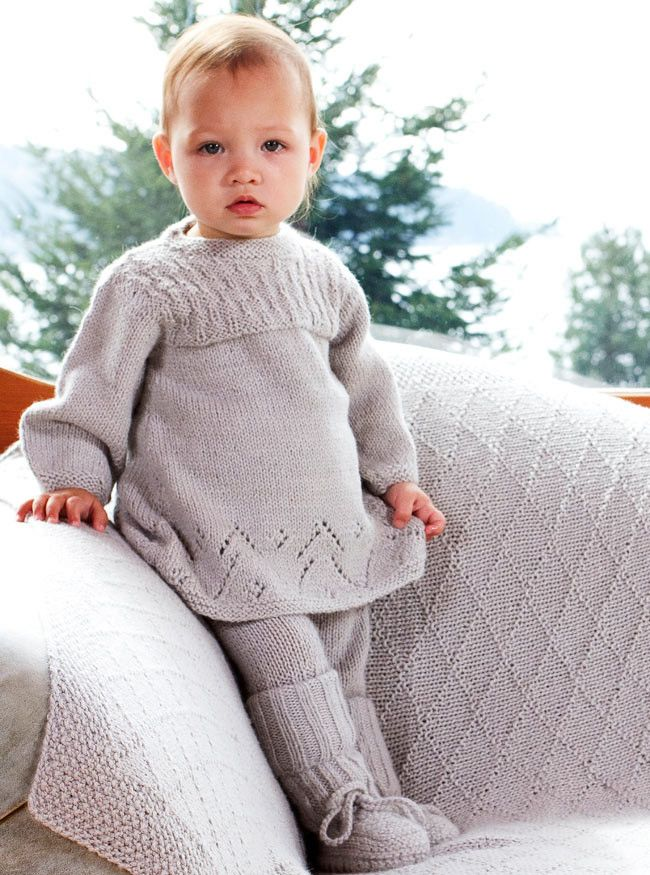 Girls and Babies Designer Clothes – Grey Sweater Dress