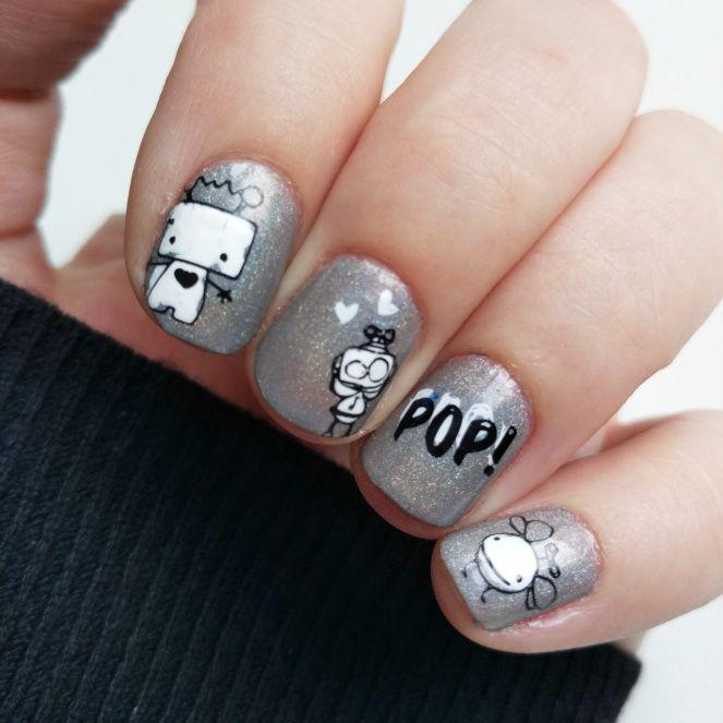 Robot nails | Nail Art Done | Pinterest | Robot