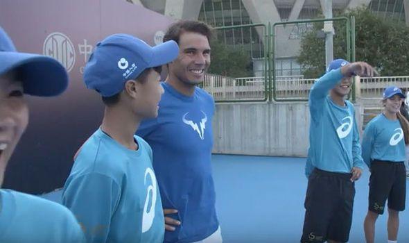 Rafael Nadal makes dreams come true for China Open ball kids - video