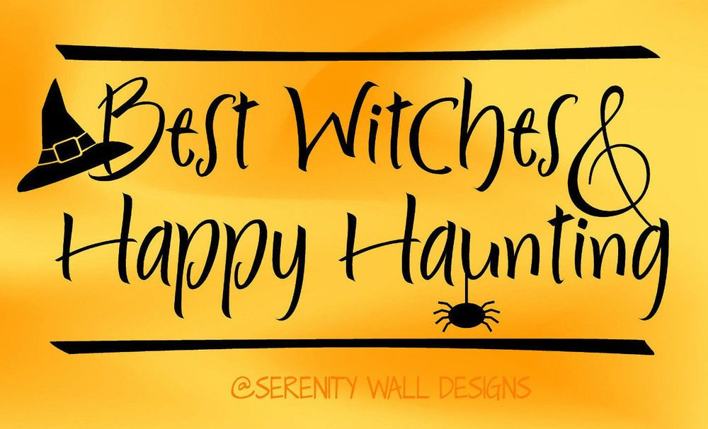 BEST WITCHES & HAPPY HAUNTING HALLOWEEN Vinyl Wall Decal Sticker ...