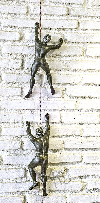 Climb Man Climb Sculpture Wall Sculpture Wall Art Wall Etsy In 2021 Climbing Art Wall Sculpture Art Rock Climbing Gifts