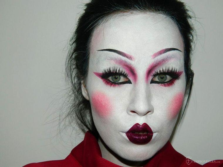 maquillaje halloween geisha Belleza Pinterest Maquillaje