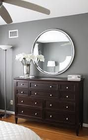 I Like The Round Mirror Above The Dresser Bedroom Makeover Before And After Brown Furniture Bedroom Master Bedroom Makeover