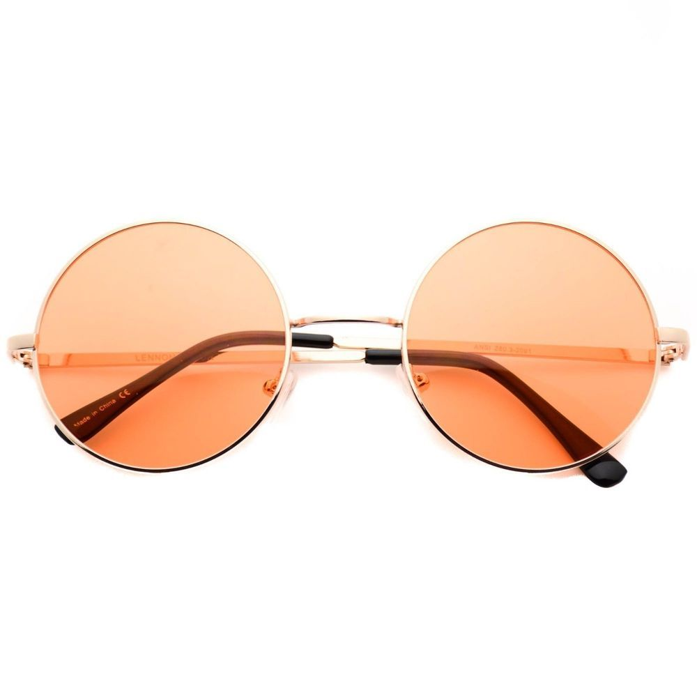 you get 1 Metal Round Circle Ozzy Elton John Orange Color Tint Lennon Style  Sunglasses   eBay! 0b3661361d
