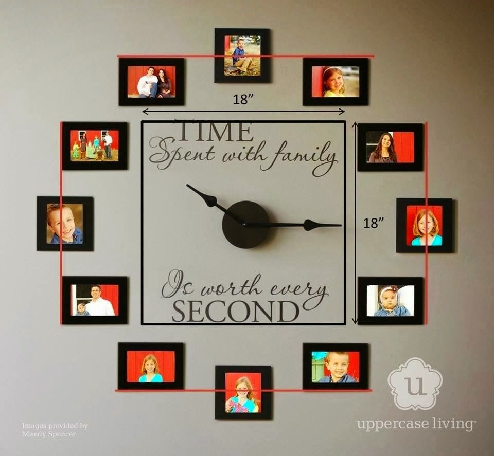 Wall Clock Art wonderful diy family photo wall clock | photo wall clocks, photo