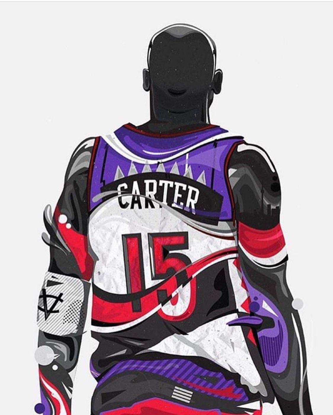 Vince Carter Basketball Players Nba Basketball Art Nba Basketball Art