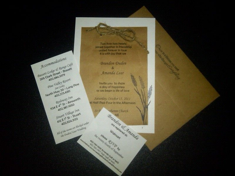 Diy paper bag wedding invitations