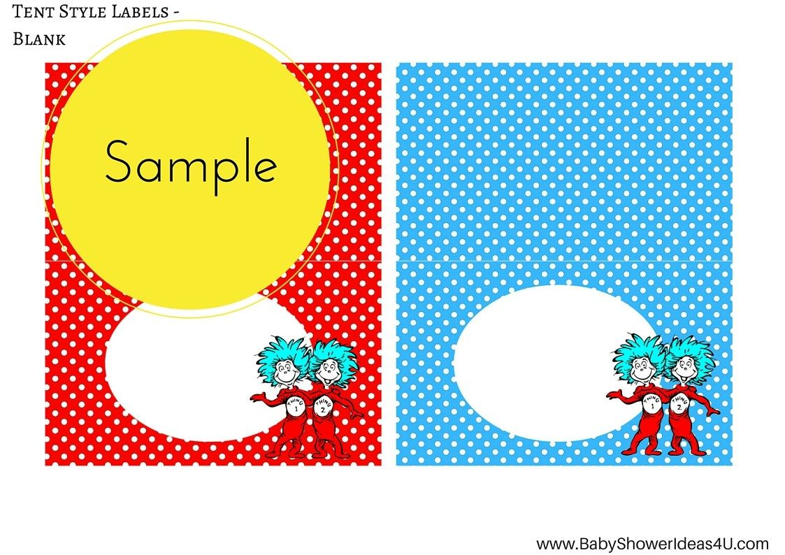 Free Dr Seuss Thing 1 Thing 2 Twins Party Printable Dr