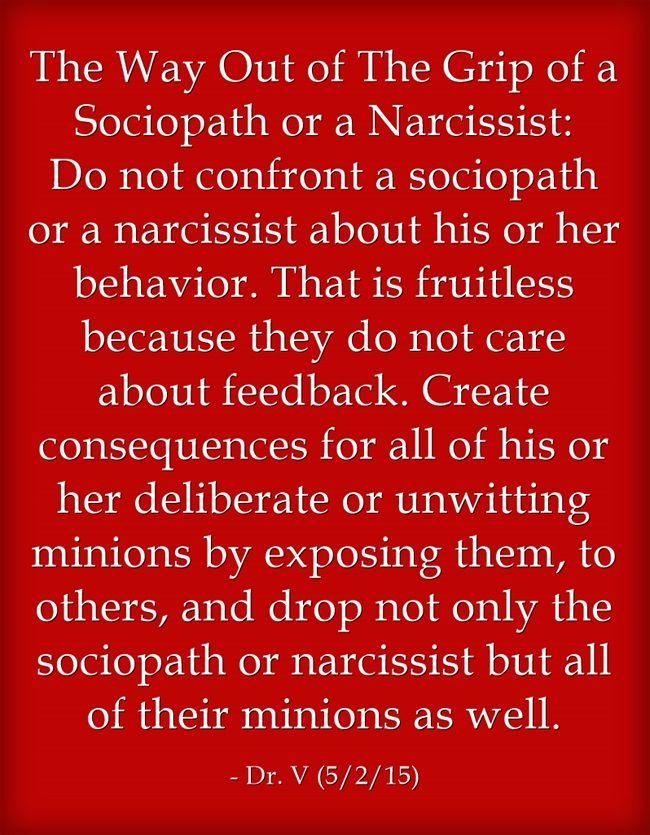 Confronting a sociopath