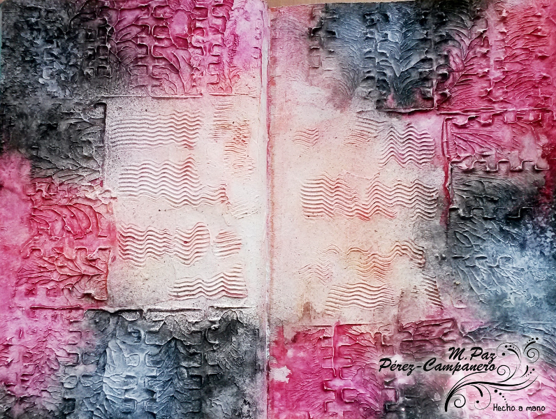 Manos y Mente Art Journaling: VAJ-Texturas con pasta de modelar #artjournal #modelingpaste
