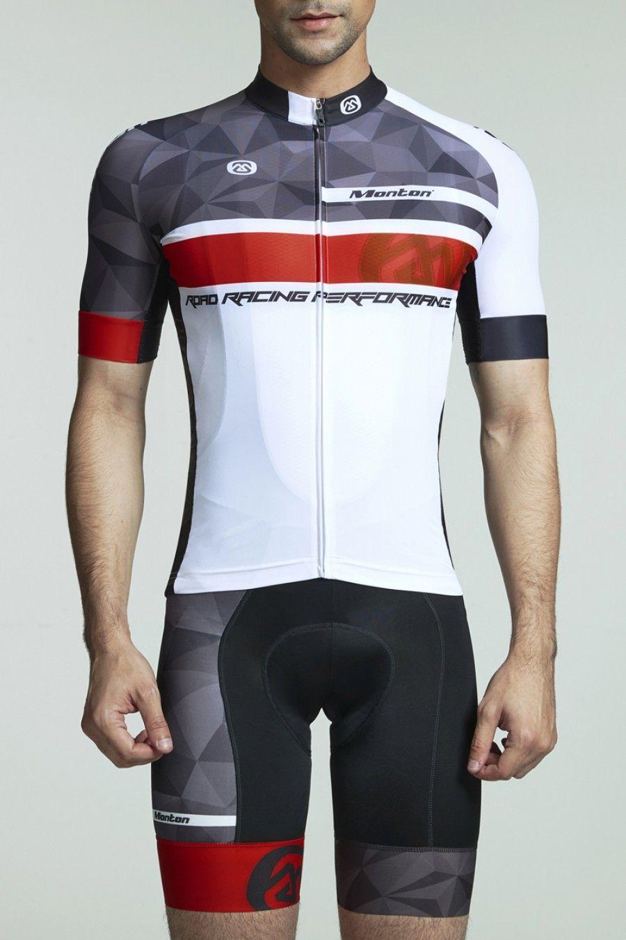 Monton JAT Men/'s Short Sleeve Shirts Bike Bicycle Top Cycling Jersey Red