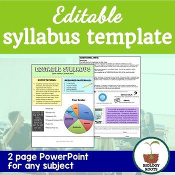 Editable Syllabus Template  Syllabus Template Powerpoint Format