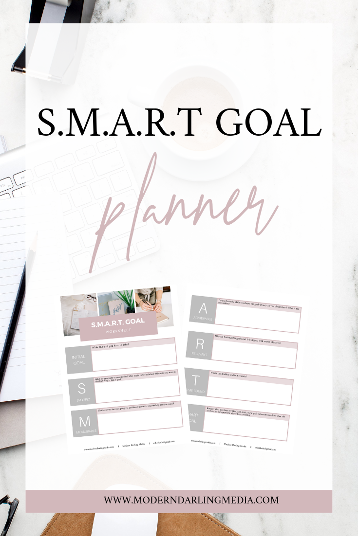 In This Planner You Ll Find Multiple Examples Showing You The Process Of Writing S M A R T Goals And Goals Planner Blog Social Media Social Media Strategies