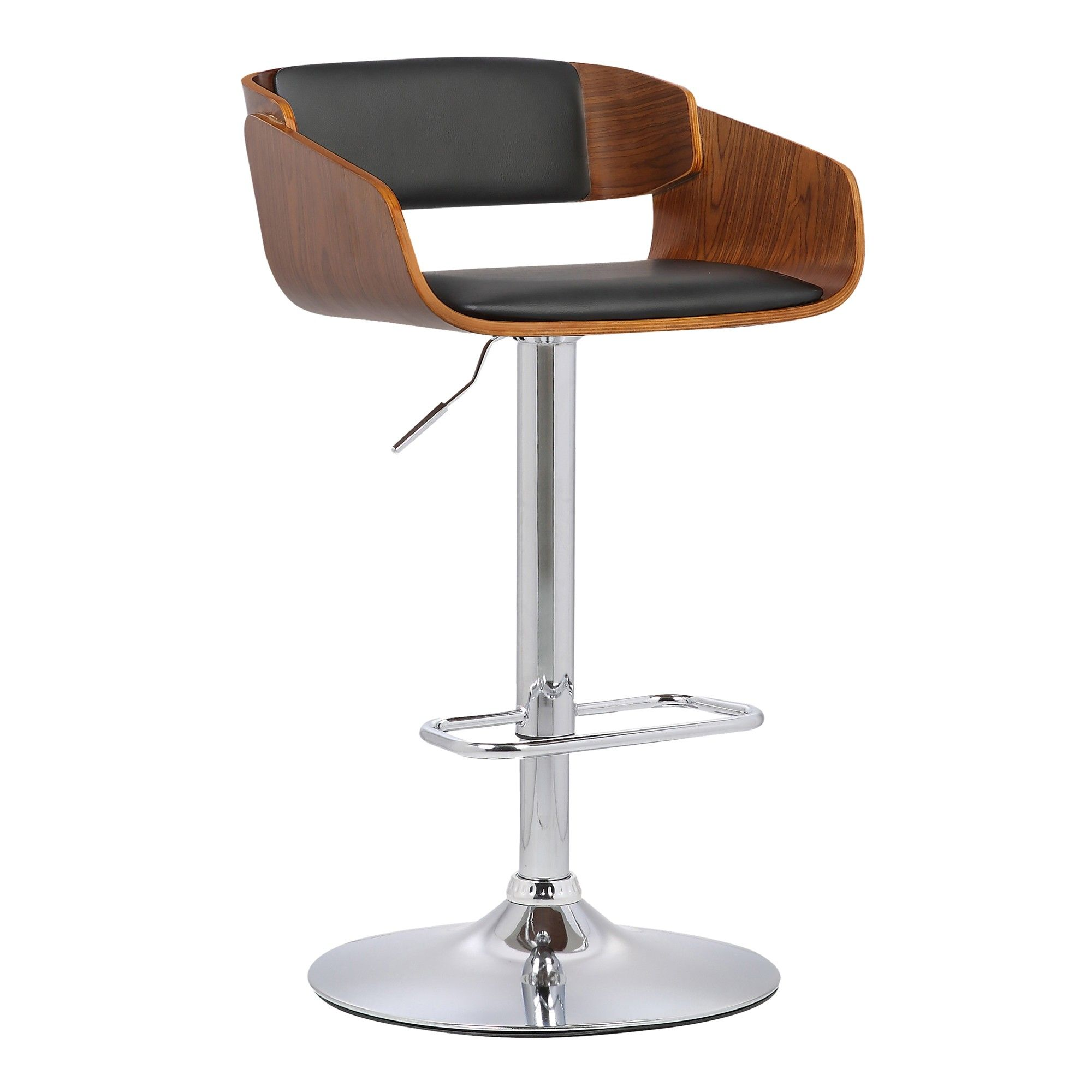 Swell Jenny Mid Century Adjustable Swivel Barstool In Chrome Ncnpc Chair Design For Home Ncnpcorg