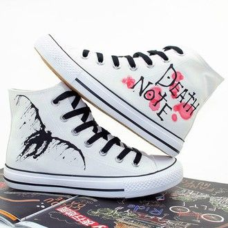 Death Note Cosplay Shoes Canvas Shoes Sneakers White
