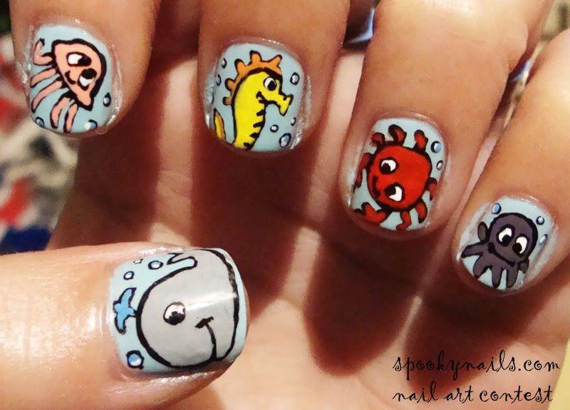 Sea Animals   Geeky stuff I like   Pinterest   Animal nail designs ...